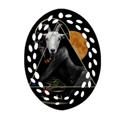 Spiritual Goat Ornament (oval Filigree) by Valentinaart