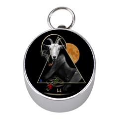 Spiritual Goat Mini Silver Compasses by Valentinaart