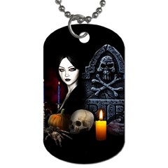 Vampires Night  Dog Tag (one Side) by Valentinaart