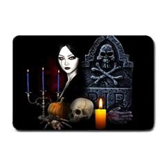 Vampires Night  Small Doormat  by Valentinaart