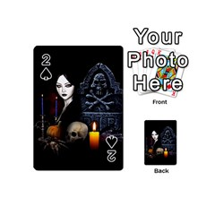 Vampires Night  Playing Cards 54 (mini)  by Valentinaart