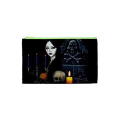 Vampires Night  Cosmetic Bag (xs) by Valentinaart