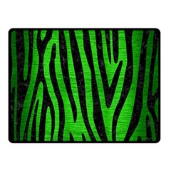 Skin4 Black Marble & Green Brushed Metal Double Sided Fleece Blanket (small)  by trendistuff