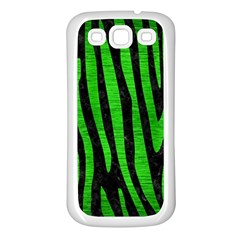 Skin4 Black Marble & Green Brushed Metal (r) Samsung Galaxy S3 Back Case (white)