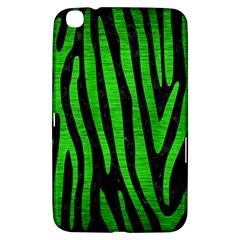 Skin4 Black Marble & Green Brushed Metal (r) Samsung Galaxy Tab 3 (8 ) T3100 Hardshell Case  by trendistuff