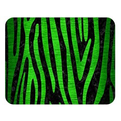 Skin4 Black Marble & Green Brushed Metal (r) Double Sided Flano Blanket (large)  by trendistuff