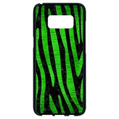 Skin4 Black Marble & Green Brushed Metal (r) Samsung Galaxy S8 Black Seamless Case by trendistuff