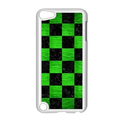 Square1 Black Marble & Green Brushed Metal Apple Ipod Touch 5 Case (white) by trendistuff