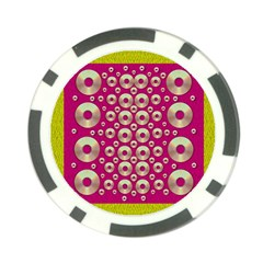Going Gold Or Metal On Fern Pop Art Poker Chip Card Guard by pepitasart