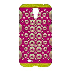 Going Gold Or Metal On Fern Pop Art Samsung Galaxy S4 I9500/i9505 Hardshell Case by pepitasart