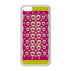 Going Gold Or Metal On Fern Pop Art Apple Iphone 5c Seamless Case (white) by pepitasart