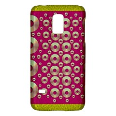 Going Gold Or Metal On Fern Pop Art Galaxy S5 Mini by pepitasart