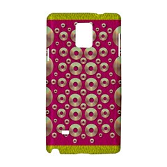 Going Gold Or Metal On Fern Pop Art Samsung Galaxy Note 4 Hardshell Case by pepitasart
