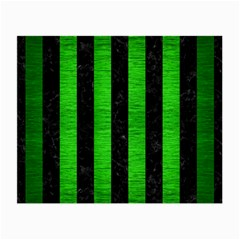Stripes1 Black Marble & Green Brushed Metal Small Glasses Cloth (2 Side) by trendistuff