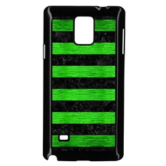 Stripes2 Black Marble & Green Brushed Metal Samsung Galaxy Note 4 Case (black) by trendistuff