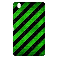 Stripes3 Black Marble & Green Brushed Metal Samsung Galaxy Tab Pro 8 4 Hardshell Case by trendistuff