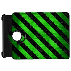 Stripes3 Black Marble & Green Brushed Metal (r) Kindle Fire Hd 7  by trendistuff