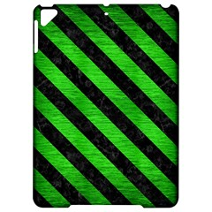 Stripes3 Black Marble & Green Brushed Metal (r) Apple Ipad Pro 9 7   Hardshell Case by trendistuff