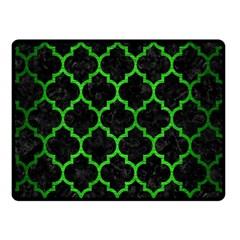 Tile1 Black Marble & Green Brushed Metal Double Sided Fleece Blanket (small)  by trendistuff