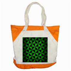 Triangle1 Black Marble & Green Brushed Metal Accent Tote Bag by trendistuff