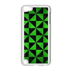 Triangle1 Black Marble & Green Brushed Metal Apple Ipod Touch 5 Case (white) by trendistuff