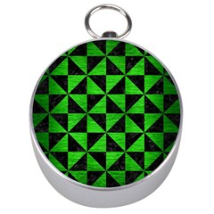 Triangle1 Black Marble & Green Brushed Metal Silver Compasses by trendistuff