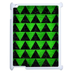 Triangle2 Black Marble & Green Brushed Metal Apple Ipad 2 Case (white) by trendistuff