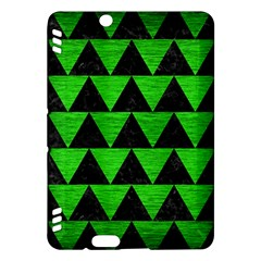 Triangle2 Black Marble & Green Brushed Metal Kindle Fire Hdx Hardshell Case by trendistuff