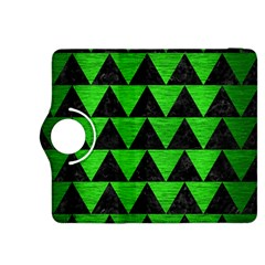 Triangle2 Black Marble & Green Brushed Metal Kindle Fire Hdx 8 9  Flip 360 Case by trendistuff