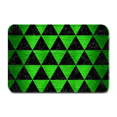 Triangle3 Black Marble & Green Brushed Metal Plate Mats by trendistuff
