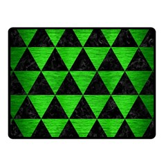 Triangle3 Black Marble & Green Brushed Metal Fleece Blanket (small) by trendistuff