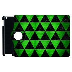 Triangle3 Black Marble & Green Brushed Metal Apple Ipad 2 Flip 360 Case by trendistuff