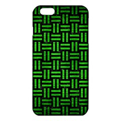 Woven1 Black Marble & Green Brushed Metal Iphone 6 Plus/6s Plus Tpu Case by trendistuff