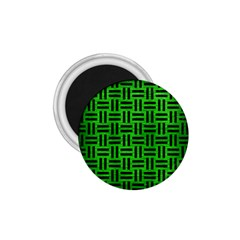 Woven1 Black Marble & Green Brushed Metal (r) 1 75  Magnets by trendistuff
