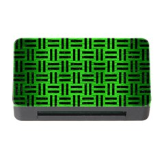 Woven1 Black Marble & Green Brushed Metal (r) Memory Card Reader With Cf by trendistuff