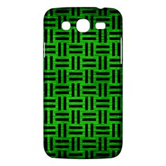 Woven1 Black Marble & Green Brushed Metal (r) Samsung Galaxy Mega 5 8 I9152 Hardshell Case  by trendistuff