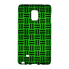 Woven1 Black Marble & Green Brushed Metal (r) Galaxy Note Edge by trendistuff
