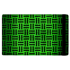 Woven1 Black Marble & Green Brushed Metal (r) Apple Ipad Pro 12 9   Flip Case by trendistuff