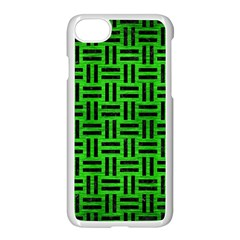 Woven1 Black Marble & Green Brushed Metal (r) Apple Iphone 7 Seamless Case (white) by trendistuff