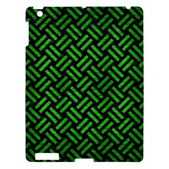 Woven2 Black Marble & Green Brushed Metal Apple Ipad 3/4 Hardshell Case by trendistuff