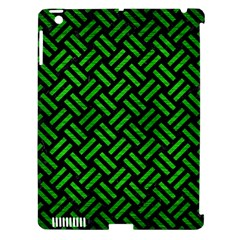 Woven2 Black Marble & Green Brushed Metal Apple Ipad 3/4 Hardshell Case (compatible With Smart Cover) by trendistuff