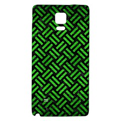 Woven2 Black Marble & Green Brushed Metal Galaxy Note 4 Back Case by trendistuff