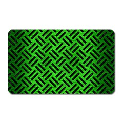 Woven2 Black Marble & Green Brushed Metal (r) Magnet (rectangular) by trendistuff