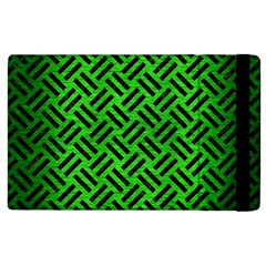 Woven2 Black Marble & Green Brushed Metal (r) Apple Ipad 3/4 Flip Case by trendistuff