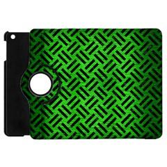 Woven2 Black Marble & Green Brushed Metal (r) Apple Ipad Mini Flip 360 Case by trendistuff