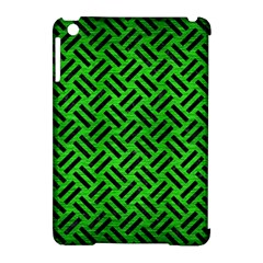 Woven2 Black Marble & Green Brushed Metal (r) Apple Ipad Mini Hardshell Case (compatible With Smart Cover) by trendistuff