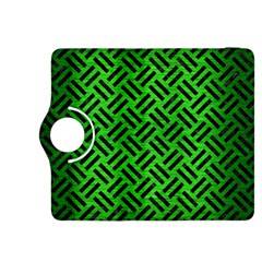 Woven2 Black Marble & Green Brushed Metal (r) Kindle Fire Hdx 8 9  Flip 360 Case by trendistuff