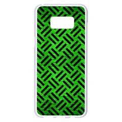 Woven2 Black Marble & Green Brushed Metal (r) Samsung Galaxy S8 Plus White Seamless Case by trendistuff