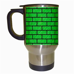 Brick1 Black Marble & Green Colored Pencil (r) Travel Mugs (white) by trendistuff