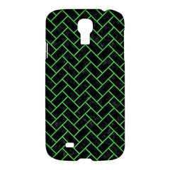 Brick2 Black Marble & Green Colored Pencil Samsung Galaxy S4 I9500/i9505 Hardshell Case by trendistuff